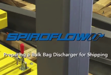 Spiroflow's Bulk Bag Discharger Prepared for Shipping