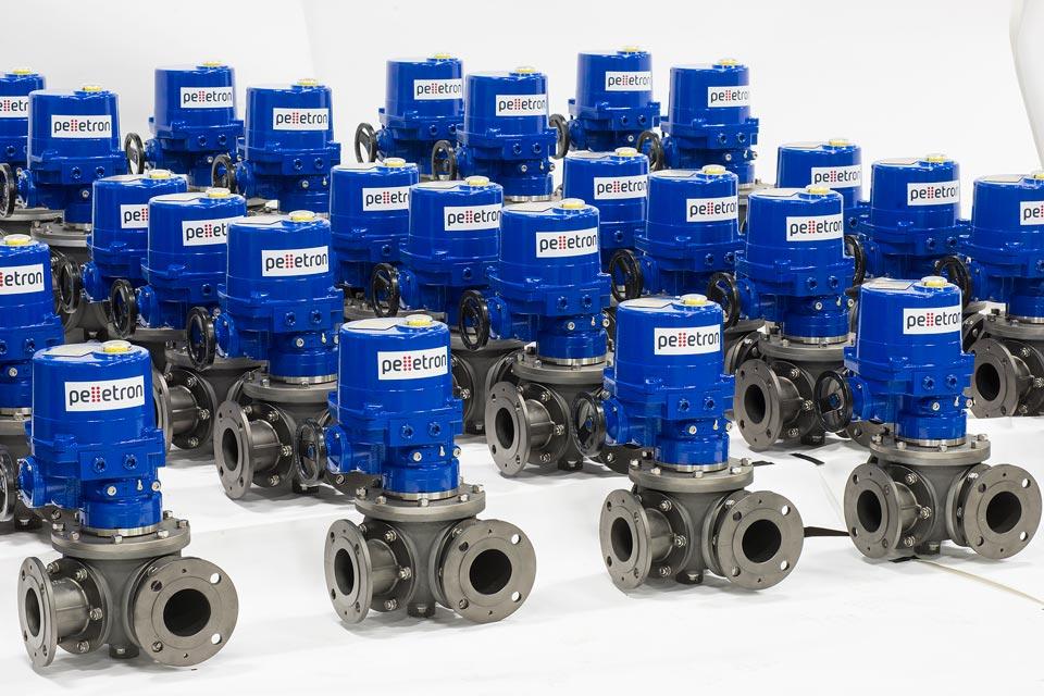 Pelletron diverter valves