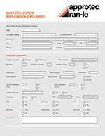 dust collection systems application data sheet
