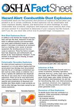 OSHA FactSheet, Hazard Alert: Combustible Dust Explosions