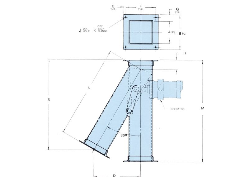 Single Blade diverter valve
