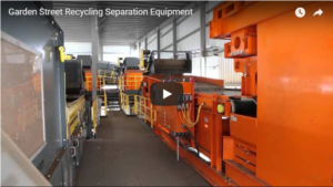 Recycling plant with Eriez Recycling System