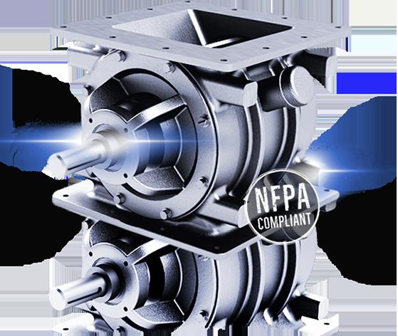 NFPA standard rotary valve