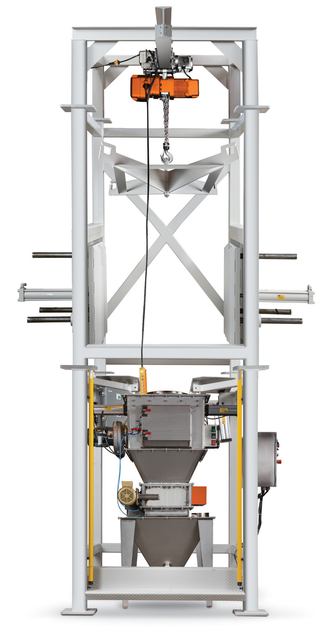Bulk Bag Unloading Stations with Integral Pneumatic Conveying System Accurately Delivers Metered Materials