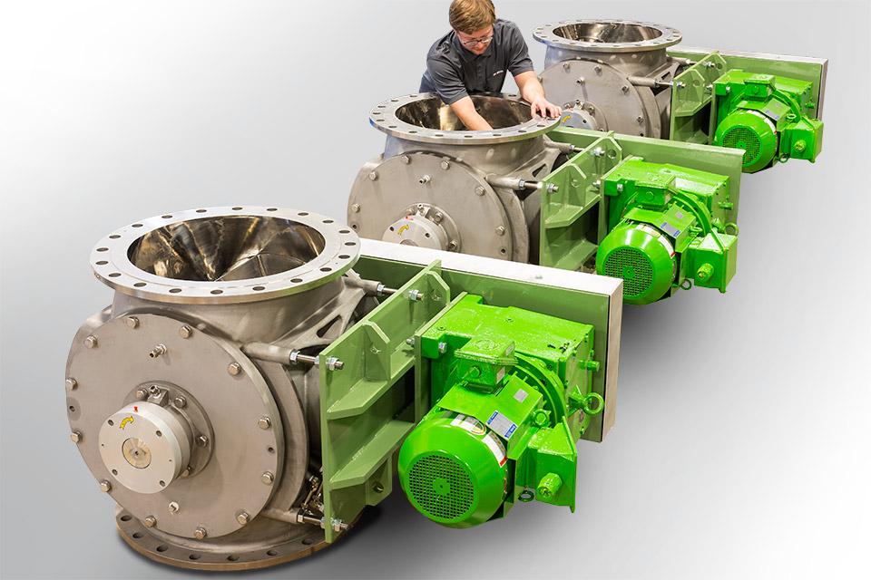 pelletron granular rotary valves
